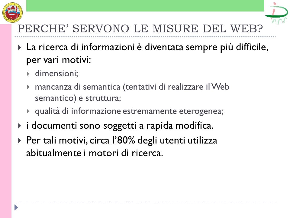 PERCHE SERVONO LE MISURE DEL WEB.