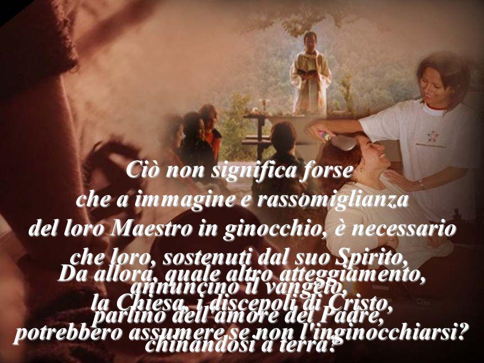 Il cammino della Chiesa, dei discepoli di Cristo, è tracciato dal Maestro stesso. In ginocchio Ha fondato una Chiesa per il servizio. per il servizio.