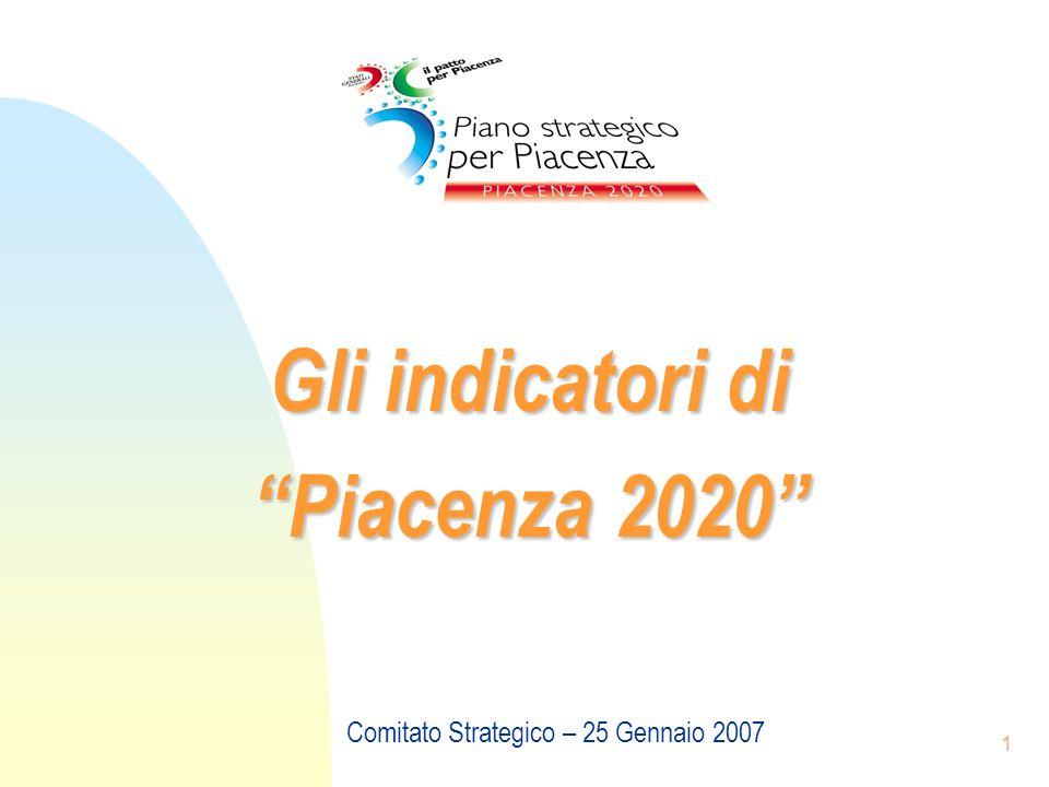 1 Gli indicatori di Piacenza 2020 Comitato Strategico – 25 Gennaio 2007