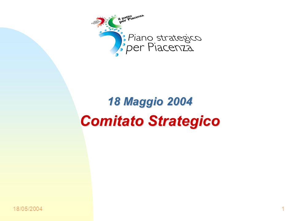 18/05/20041 18 Maggio 2004 Comitato Strategico