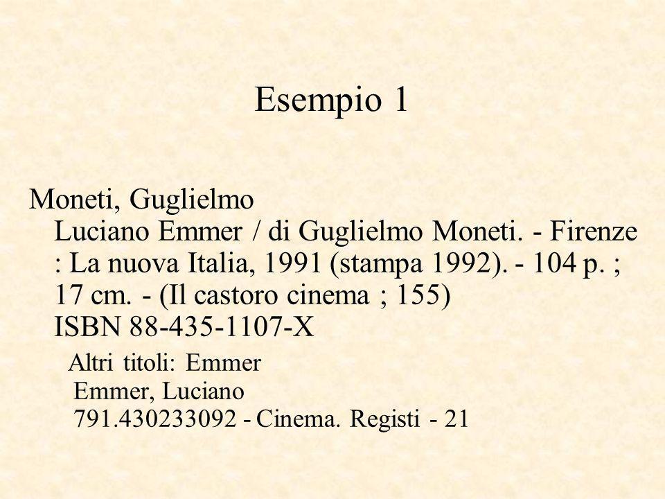 Esempio 1 Moneti, Guglielmo Luciano Emmer / di Guglielmo Moneti.