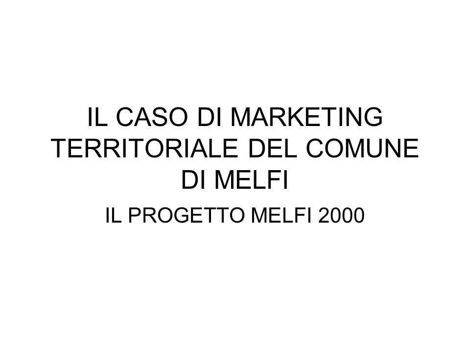 IL CASO DI MARKETING TERRITORIALE DEL COMUNE DI MELFI IL PROGETTO MELFI 2000
