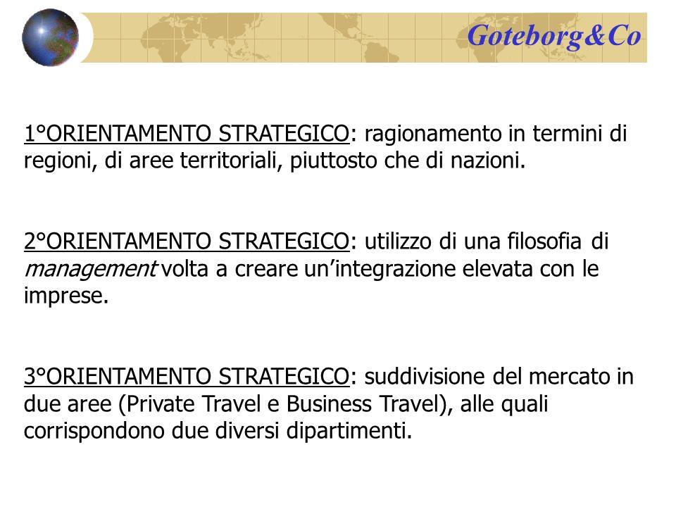 Goteborg&Co 1°ORIENTAMENTO STRATEGICO: ragionamento in termini di regioni, di aree territoriali, piuttosto che di nazioni.