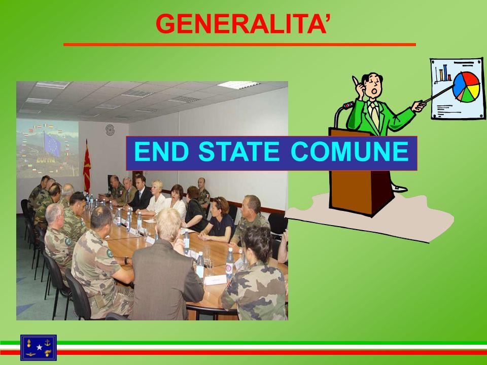 GENERALITA END STATE COMUNE