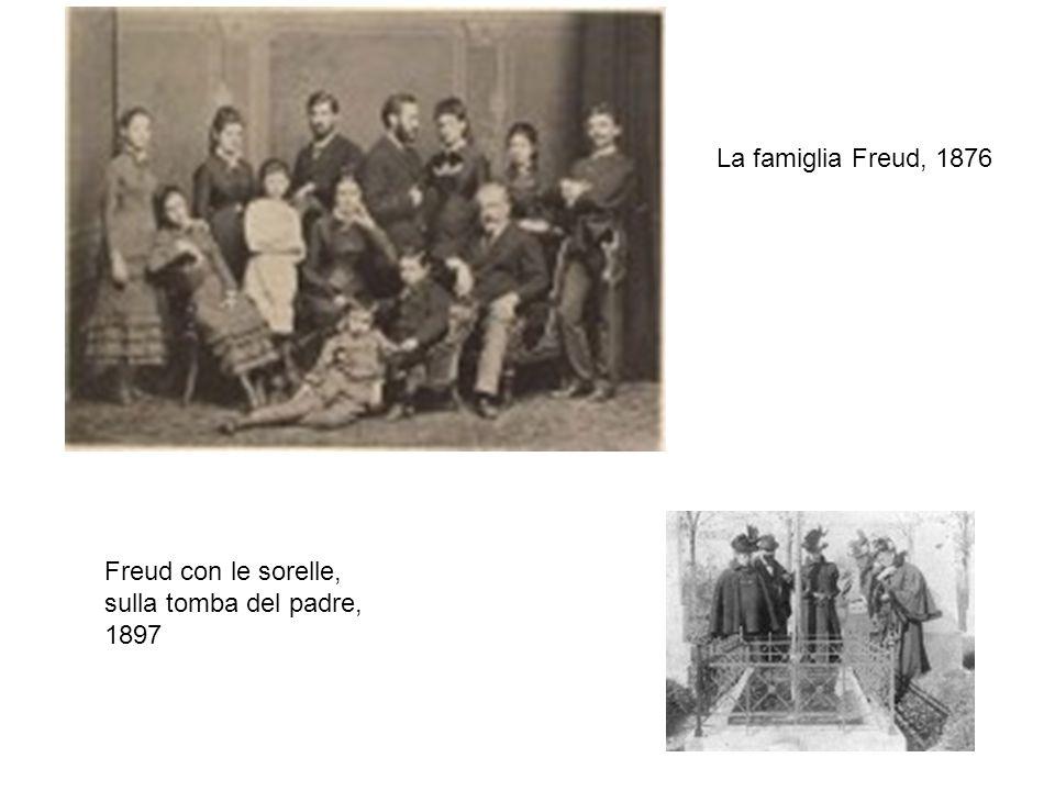 Freud con le sorelle, sulla tomba del padre, 1897 La famiglia Freud, 1876