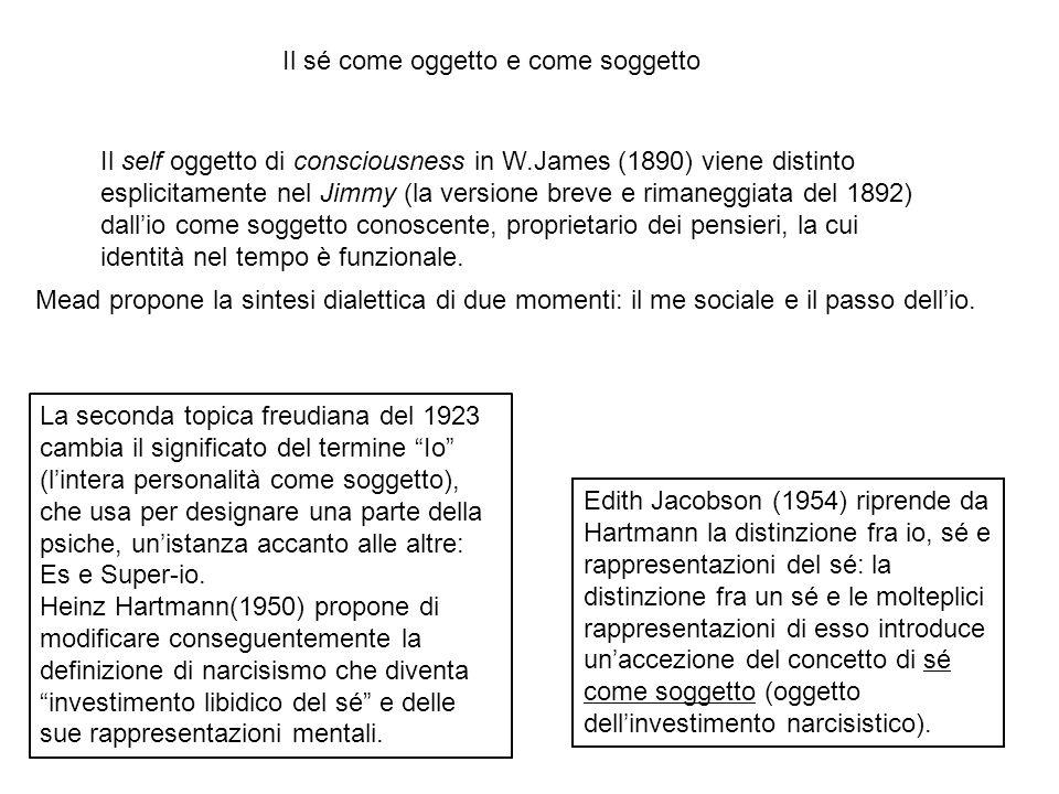 Edith Jacobson (1954) riprende da Hartmann la distinzione fra io, sé e rappresentazioni del sé: la distinzione fra un sé e le molteplici rappresentazi