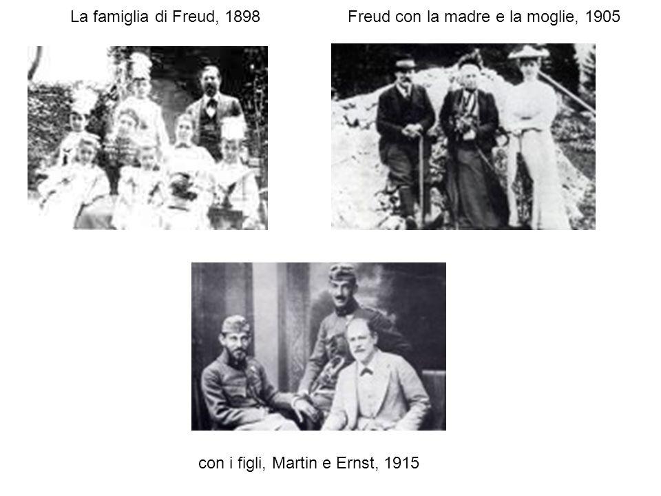 La METAPSICOLOGIA freudiana TEORIA DELLE PULSIONI (spinte motivazionali, impulsi che non hanno il carattere istintivo dei bisogni animali ma un versante rappresentativo, mentale): 1) teoria delle PULSIONI DI AUTOCONSERVAZIONE/SESSUALI o LIBIDICHE (fame e amore) 2) NARCISISMO (1914): LIBIDO DELLIO/OGGETTUALE (LIBIDO, parola latina, indica lenergia delle pulsioni che hanno a che fare con lamore) 3) teoria delle PULSIONI DI VITA E DI MORTE (1920) TEORIA DELLAPPARATO PSICHICO (e metaforicamente dei suoi luoghi): Prima topica: INCONSCIO, PRECONSCIO, COSCIENZA Seconda topica (1923): ES, IO, SUPER-IO A questo punto la definizione di narcisismo come investimento libidico dellio suona ambigua e H.Hartmann (1939) proporrà investimento libidico del Sé TEORIA DELLANGOSCIA: La pulsione insoddisfatta a causa delle difese si trasforma in angoscia, come il vino in aceto PULSIONE -> DIFESE -> ANGOSCIA 1926 Inibizione, sintomo e angoscia: langoscia è un segnale che attiva le difese ANGOSCIA -> DIFESE Freud considerava i concetti teorici astratti della psicoanalisi come una sorta di mitologia e li ha ripetutamente modificati, diversamente dai concetti clinici.
