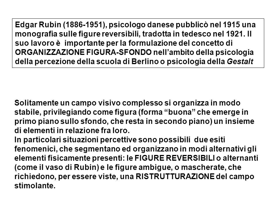 Edgar Rubin (1886-1951), psicologo danese pubblicò nel 1915 una monografia sulle figure reversibili, tradotta in tedesco nel 1921. Il suo lavoro è imp
