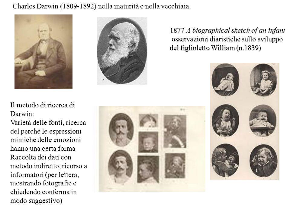Il metodo di ricerca di Darwin: Varietà delle fonti, ricerca del perché le espressioni mimiche delle emozioni hanno una certa forma Raccolta dei dati
