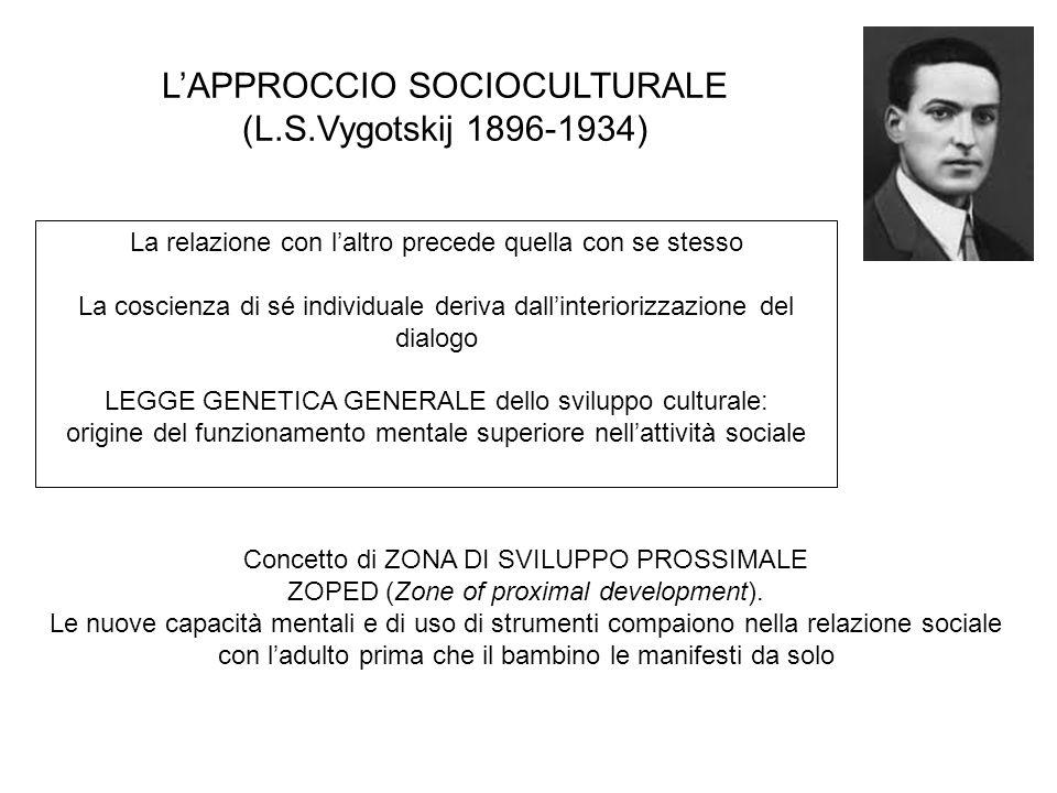 La relazione con laltro precede quella con se stesso La coscienza di sé individuale deriva dallinteriorizzazione del dialogo LEGGE GENETICA GENERALE d