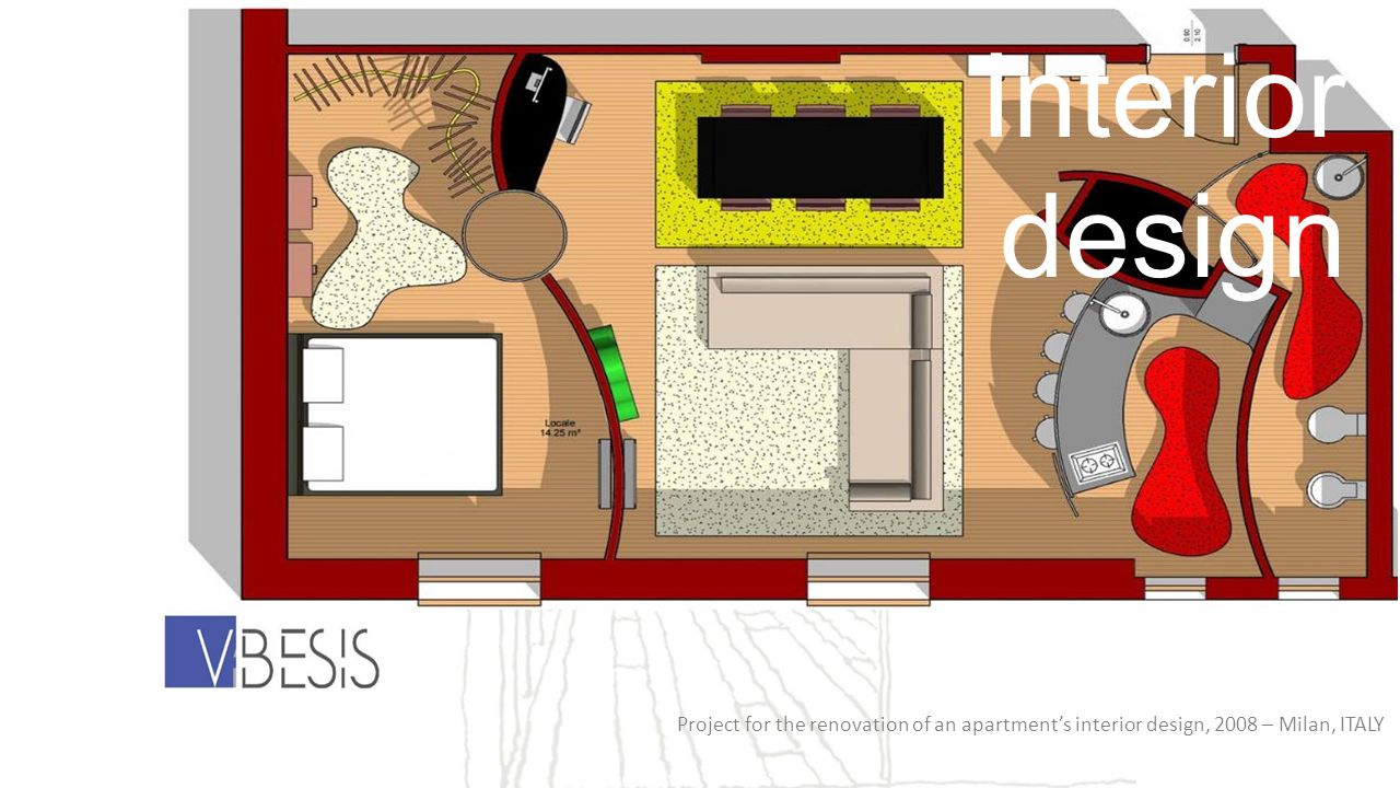 Project for the renovation of an apartments interior design, 2008 – Milan, ITALY Interior design