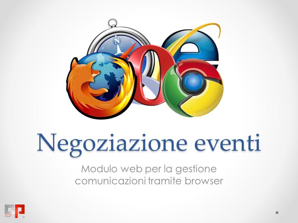 Negoziazione eventi Modulo web per la gestione comunicazioni tramite browser