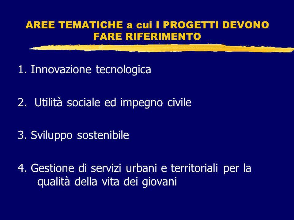 CHI PUO PARTECIPARE Giovani cittadini italiani, di età dai 18 ai 35 anni, organizzati in gruppi di lavoro informali, composti da almeno 4 persone