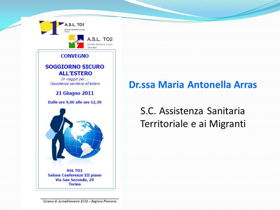 Dr.ssa Maria Antonella Arras S.C. Assistenza Sanitaria Territoriale e ai Migranti