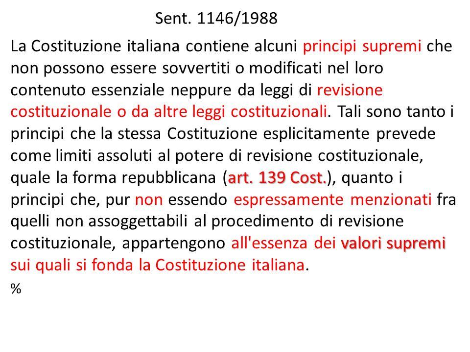 Sent.1146/1988 art. 139 Cost.