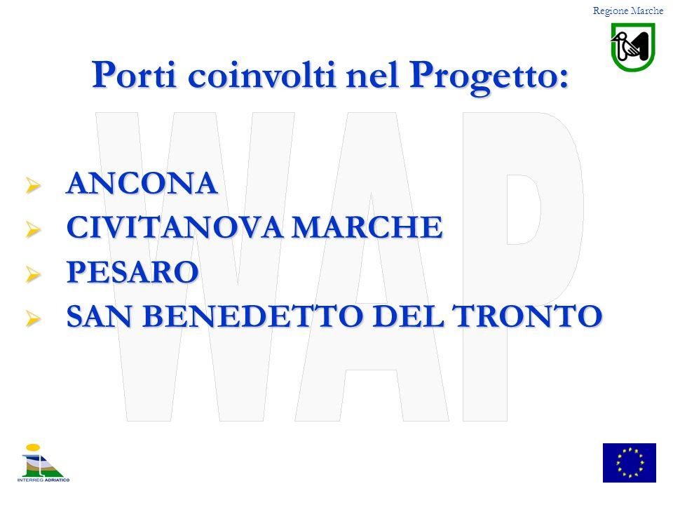 ANCONA ANCONA CIVITANOVA MARCHE CIVITANOVA MARCHE PESARO PESARO SAN BENEDETTO DEL TRONTO SAN BENEDETTO DEL TRONTO Regione Marche Porti coinvolti nel P