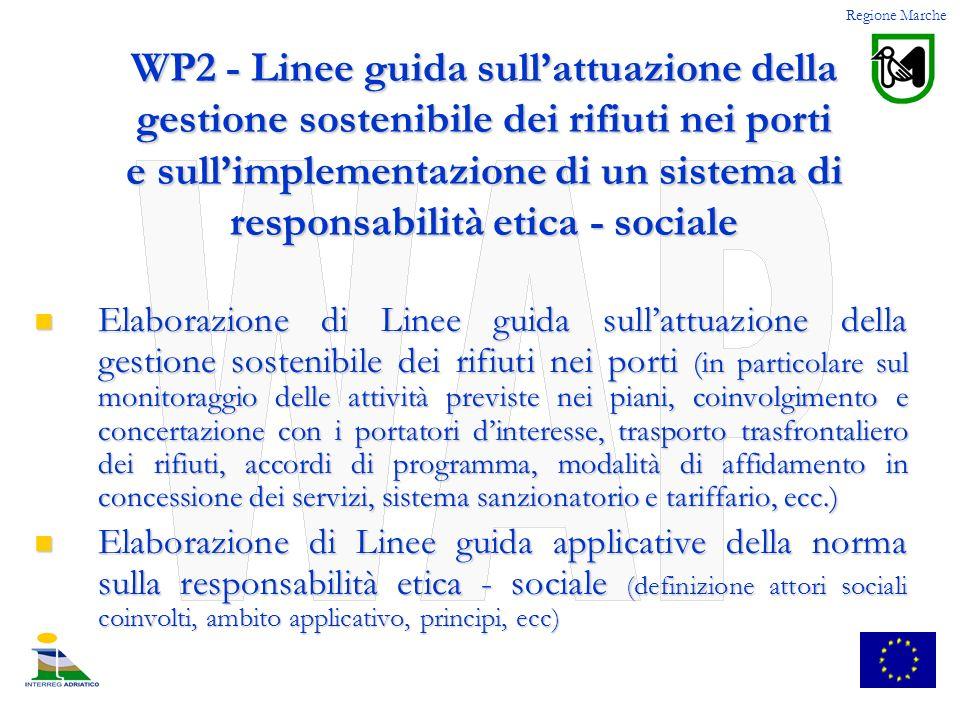WP2 - Linee guida sullattuazione della gestione sostenibile dei rifiuti nei porti e sullimplementazione di un sistema di responsabilità etica - social