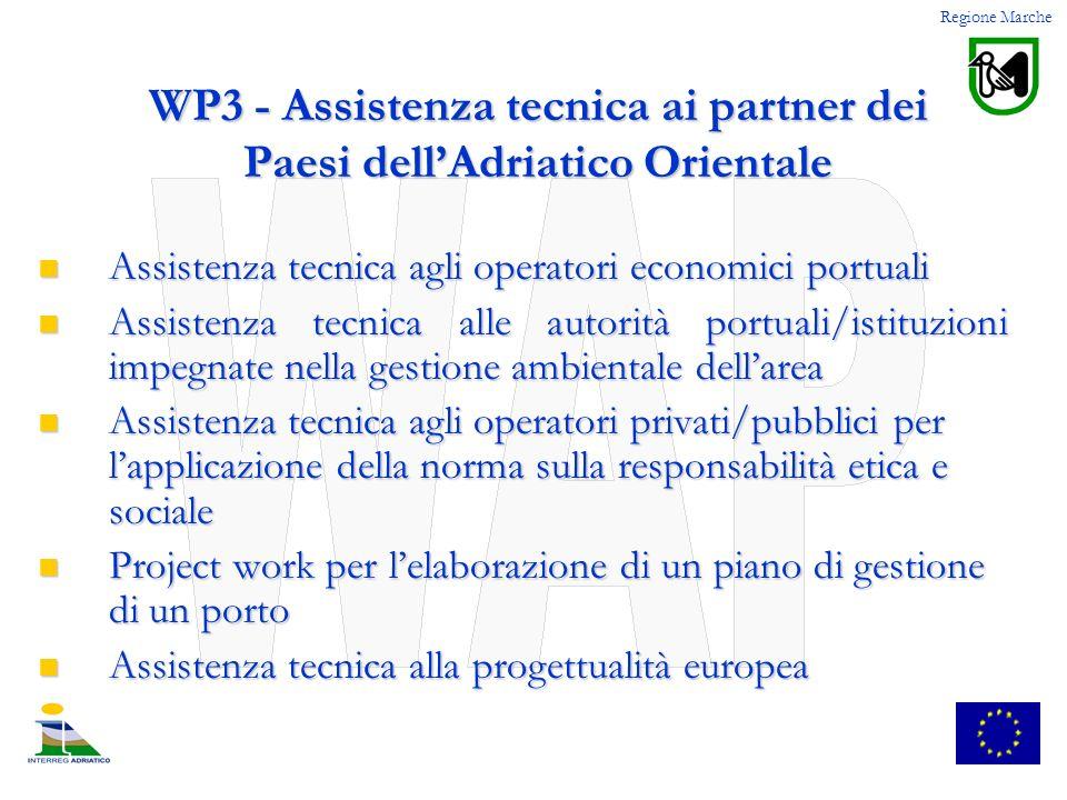 WP3 - Assistenza tecnica ai partner dei Paesi dellAdriatico Orientale Assistenza tecnica agli operatori economici portuali Assistenza tecnica agli ope