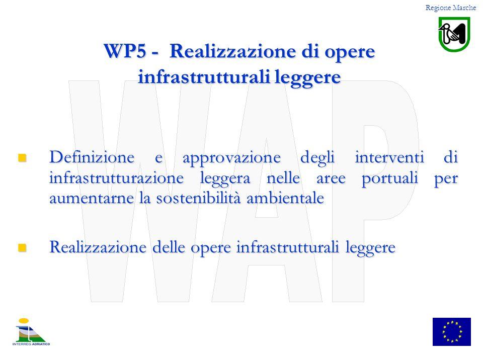 WP5 - Realizzazione di opere infrastrutturali leggere Definizione e approvazione degli interventi di infrastrutturazione leggera nelle aree portuali p