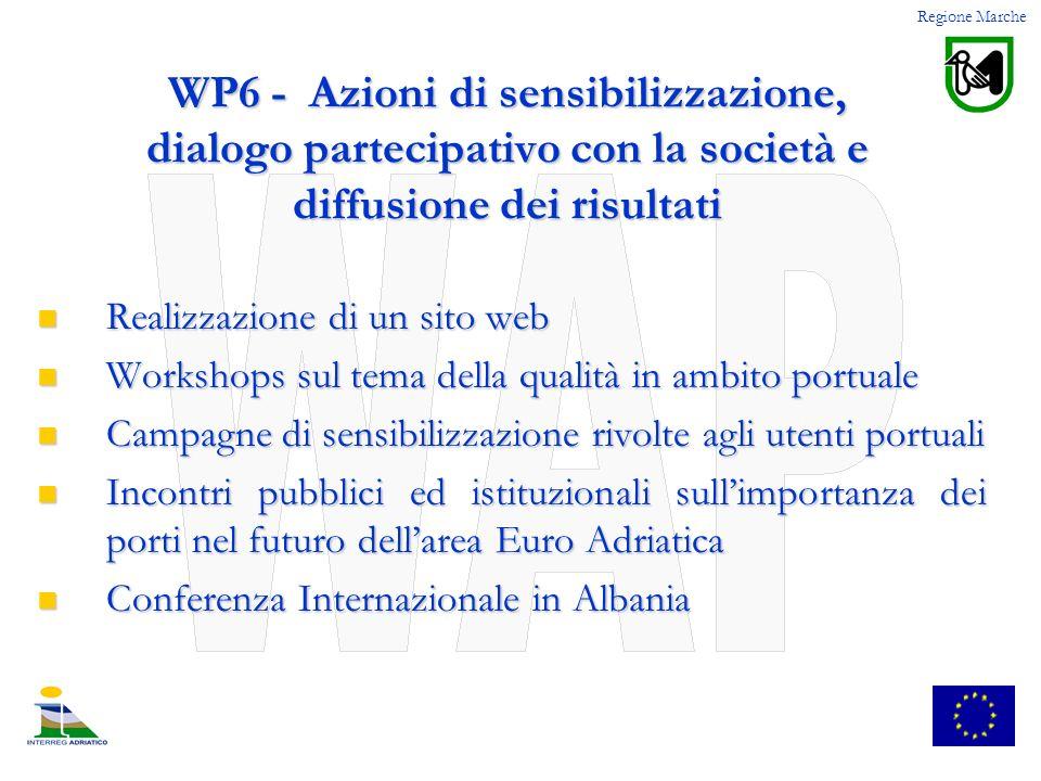 WP6 - Azioni di sensibilizzazione, dialogo partecipativo con la società e diffusione dei risultati Realizzazione di un sito web Realizzazione di un si