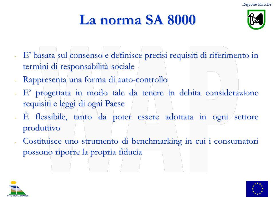 - E basata sul consenso e definisce precisi requisiti di riferimento in termini di responsabilità sociale - Rappresenta una forma di auto-controllo -