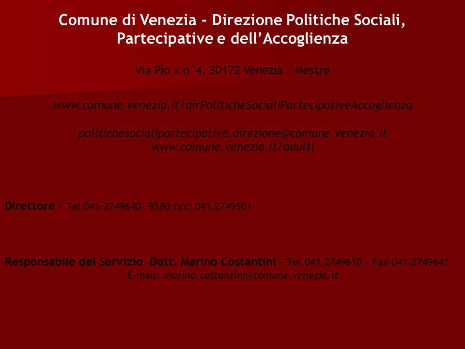 Direttore - Tel 041.2749640– 9580 fax: 041.2749501 Responsabile del Servizio Dott.