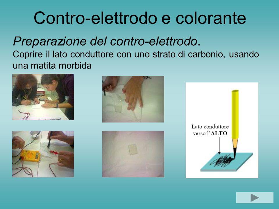 Contro-elettrodo e colorante Preparazione del contro-elettrodo.