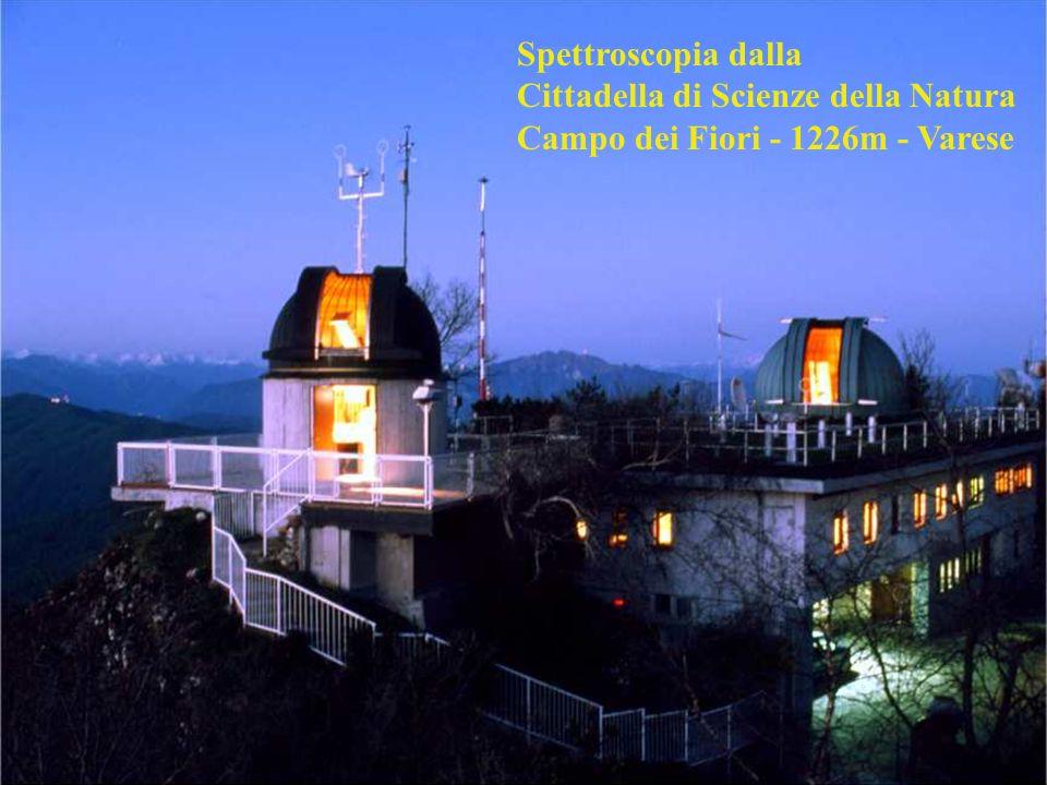 Spettroscopia dalla Cittadella di Scienze della Natura Campo dei Fiori - 1226m - Varese