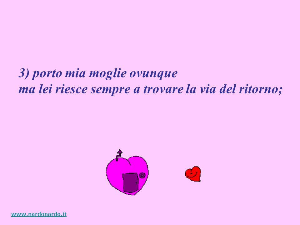 2) dormiamo in letti separati. Il mio è in Lombardia e il suo in Liguria www.nardonardo.it