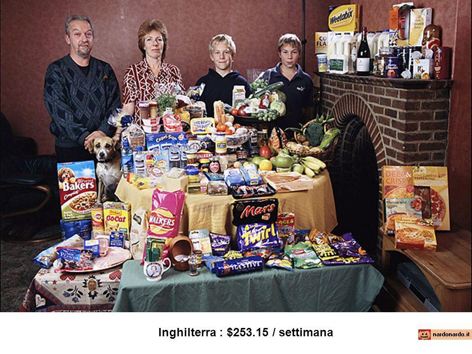 Inghilterra : $253.15 / settimana