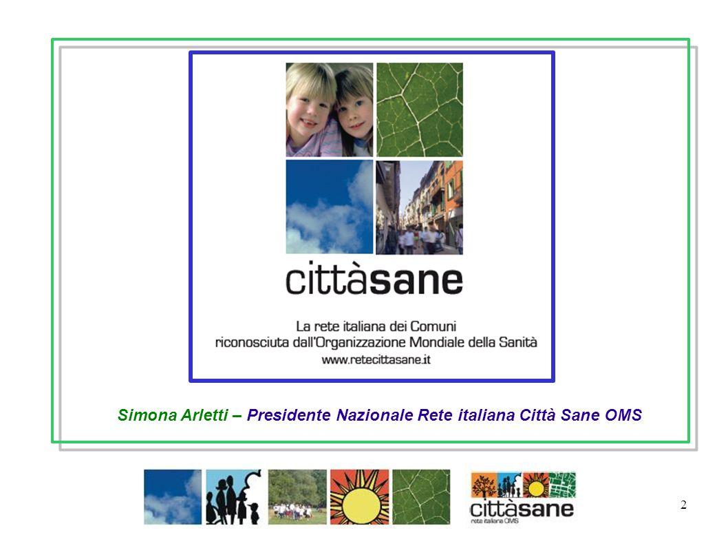 2 Simona Arletti – Presidente Nazionale Rete italiana Città Sane OMS