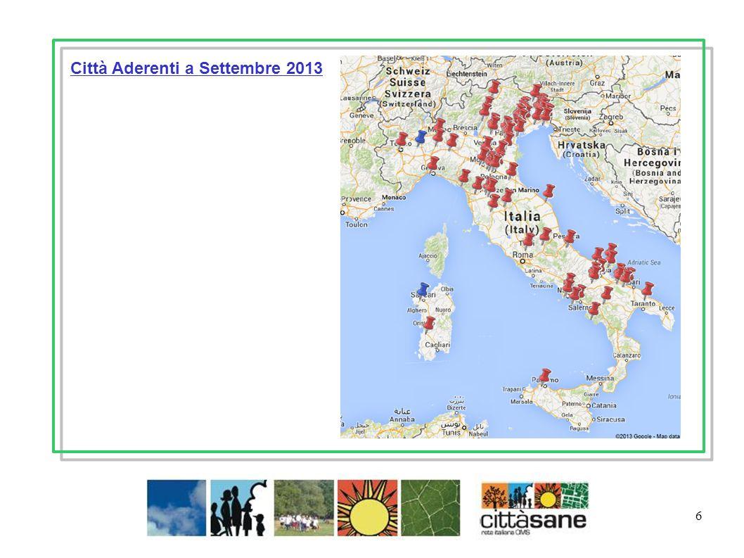 6 Città Aderenti a Settembre 2013