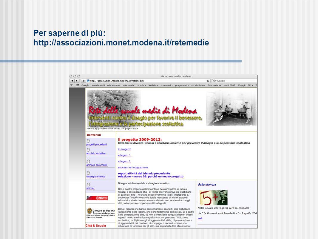 Per saperne di più: http://associazioni.monet.modena.it/retemedie