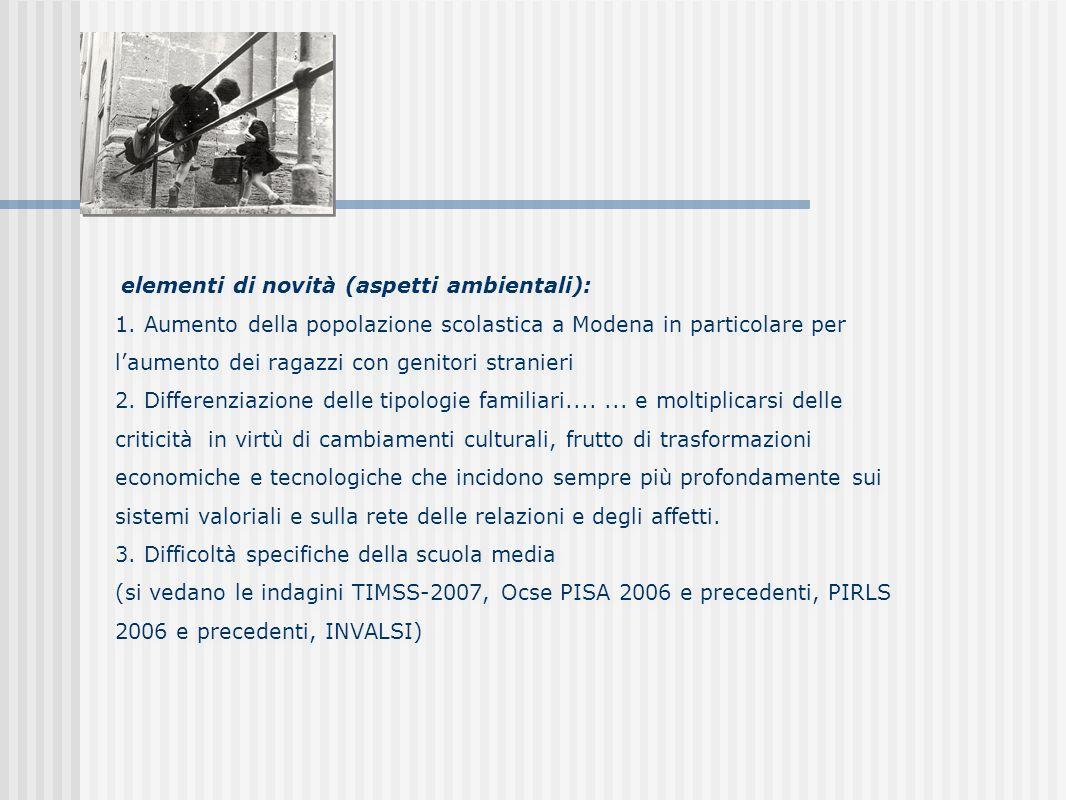 elementi di novità (aspetti ambientali): 1.