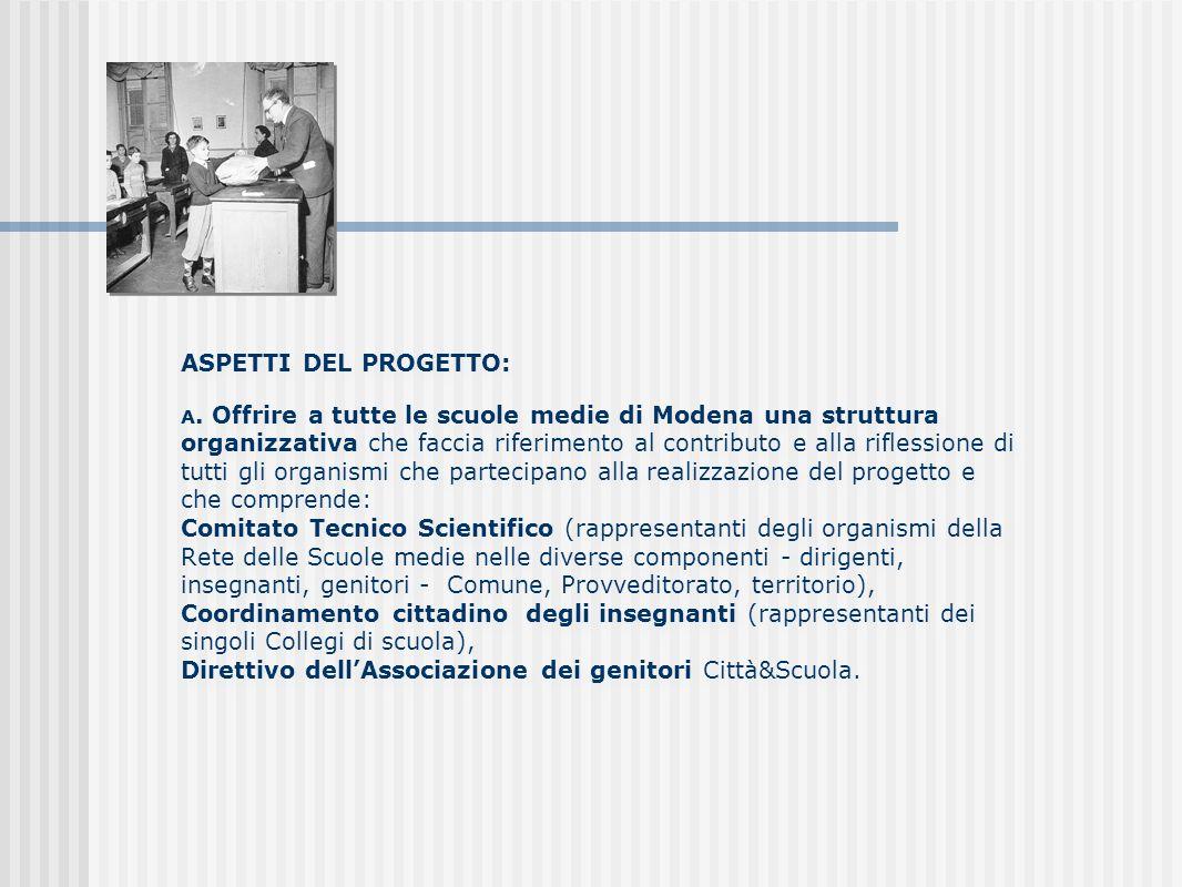 ASPETTI DEL PROGETTO: A.