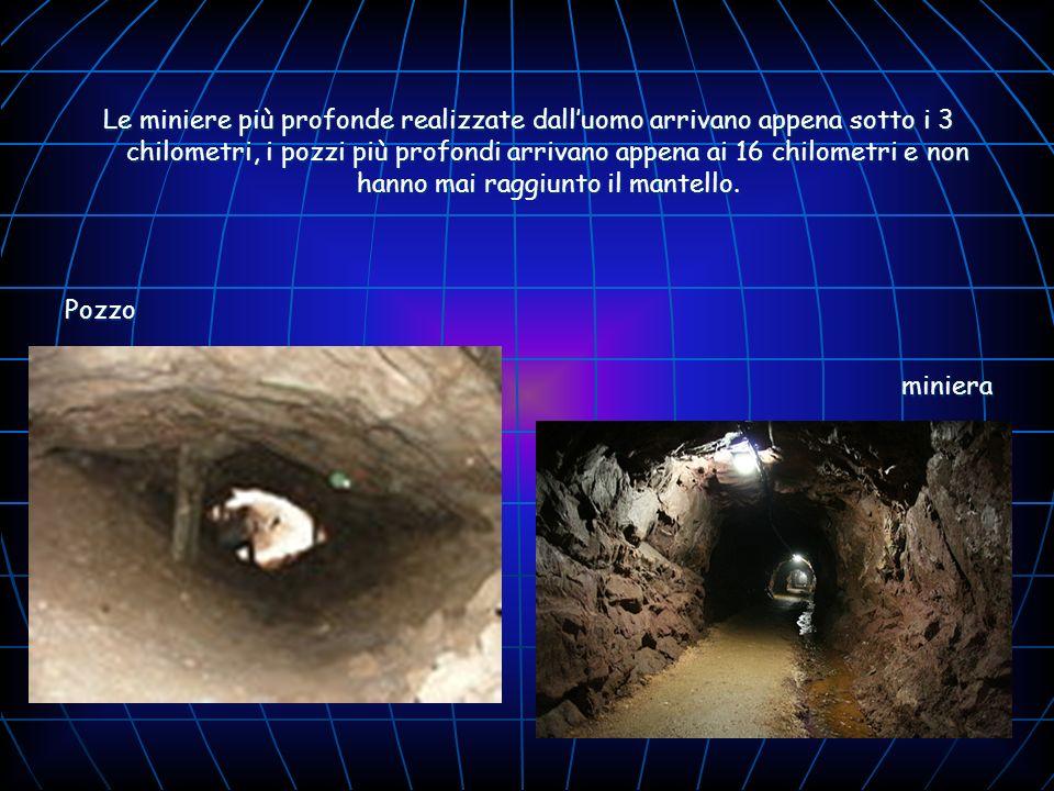 Le miniere più profonde realizzate dalluomo arrivano appena sotto i 3 chilometri, i pozzi più profondi arrivano appena ai 16 chilometri e non hanno ma