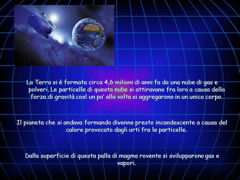 La Terra si è formata circa 4,6 milioni di anni fa da una nube di gas e polveri. Le particelle di questa nube si attiravano fra loro a causa della for