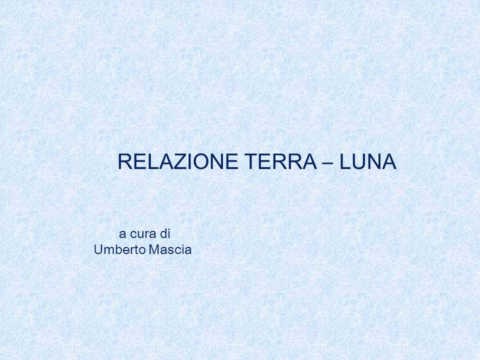 RELAZIONE TERRA – LUNA a cura di Umberto Mascia