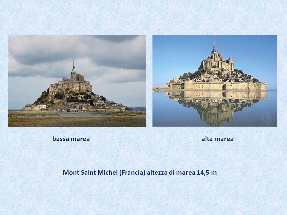 Mont Saint Michel (Francia) altezza di marea 14,5 m bassa marea alta marea