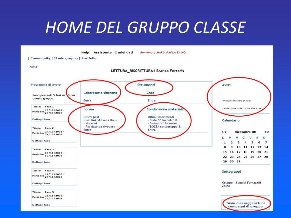 HOME DEL GRUPPO CLASSE