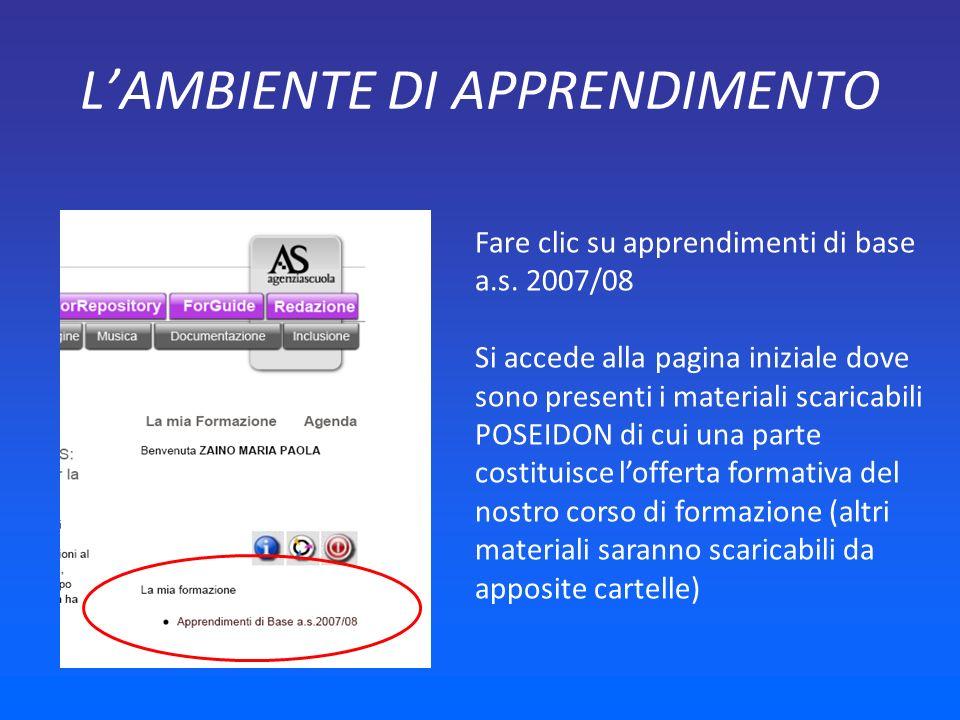 LOFFERTA FORMATIVA POSEIDON Per scaricare i materiali clic sul nome del modulo e poi download del documento