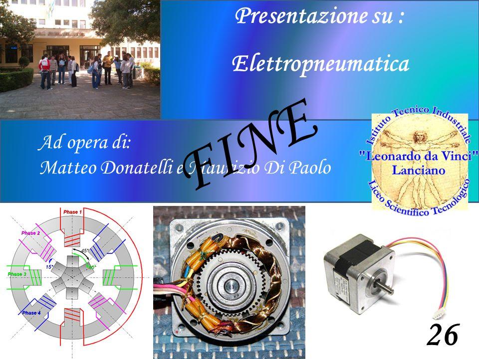 Ad opera di: Matteo Donatelli e Maurizio Di Paolo Presentazione su : Elettropneumatica 26 FINE