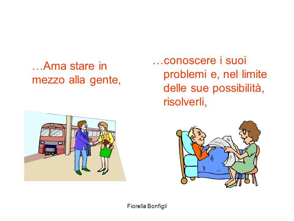 Fiorella Bonfigli …conoscere i suoi problemi e, nel limite delle sue possibilità, risolverli, …Ama stare in mezzo alla gente,