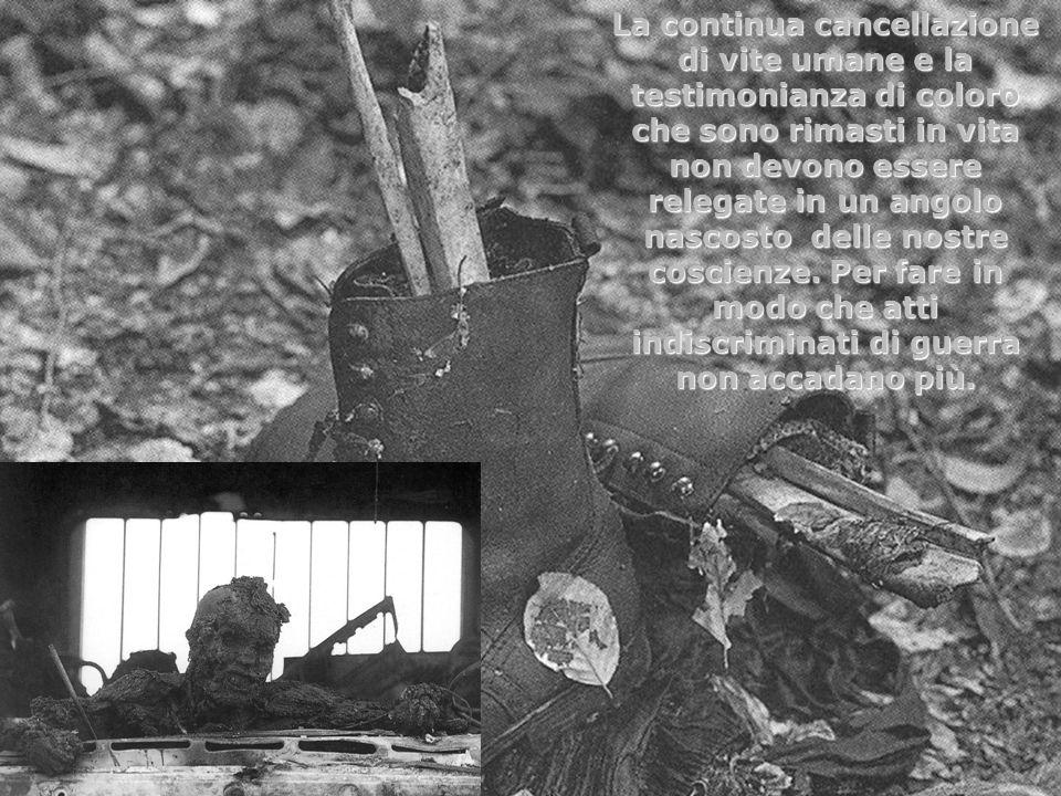 La continua cancellazione di vite umane e la testimonianza di coloro che sono rimasti in vita non devono essere relegate in un angolo nascosto delle n