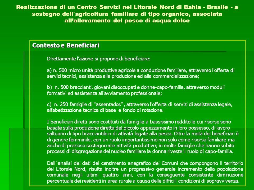 Contesto e Beneficiari Direttamente lazione si propone di beneficiare: a) n.