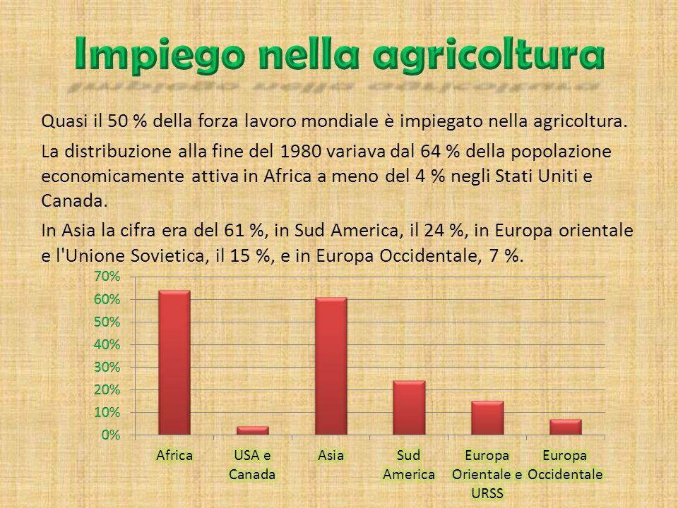 Agricoltura estensiva : Poca resa, ma tanto terreno coltivabile > guadagno Agricoltura intensiva : Resa elevata, ma poco terreno coltivabile > guadagn