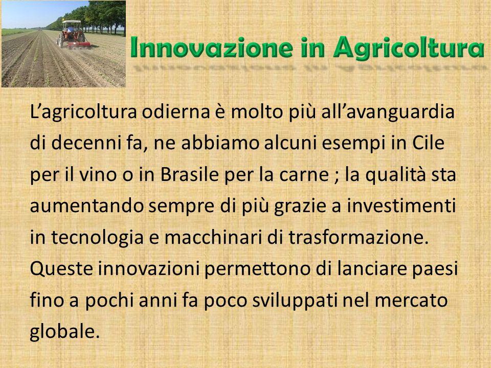 L'importanza di un singolo paese come un esportatore di prodotti agricoli dipende da molte variabili. Tra queste vi è la possibilità che il paese sia