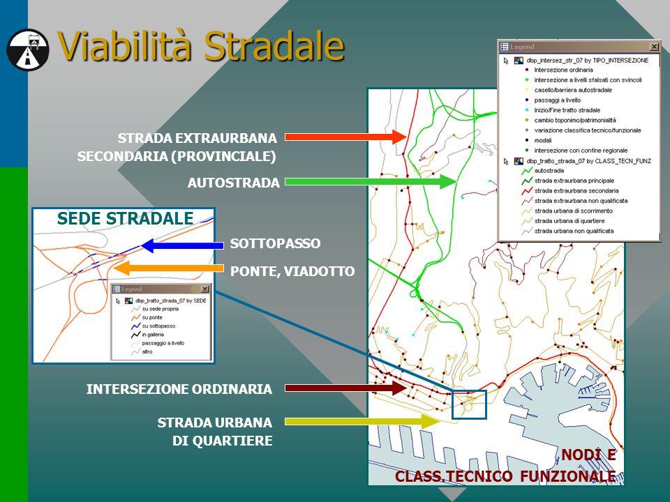 Viabilità Stradale STRADA EXTRAURBANA SECONDARIA (PROVINCIALE) AUTOSTRADA STRADA URBANA DI QUARTIERE INTERSEZIONE ORDINARIA SEDE STRADALE PONTE, VIADO