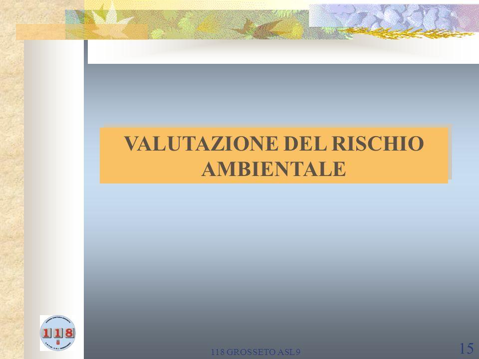 118 GROSSETO ASL 9 15 VALUTAZIONE DEL RISCHIO AMBIENTALE