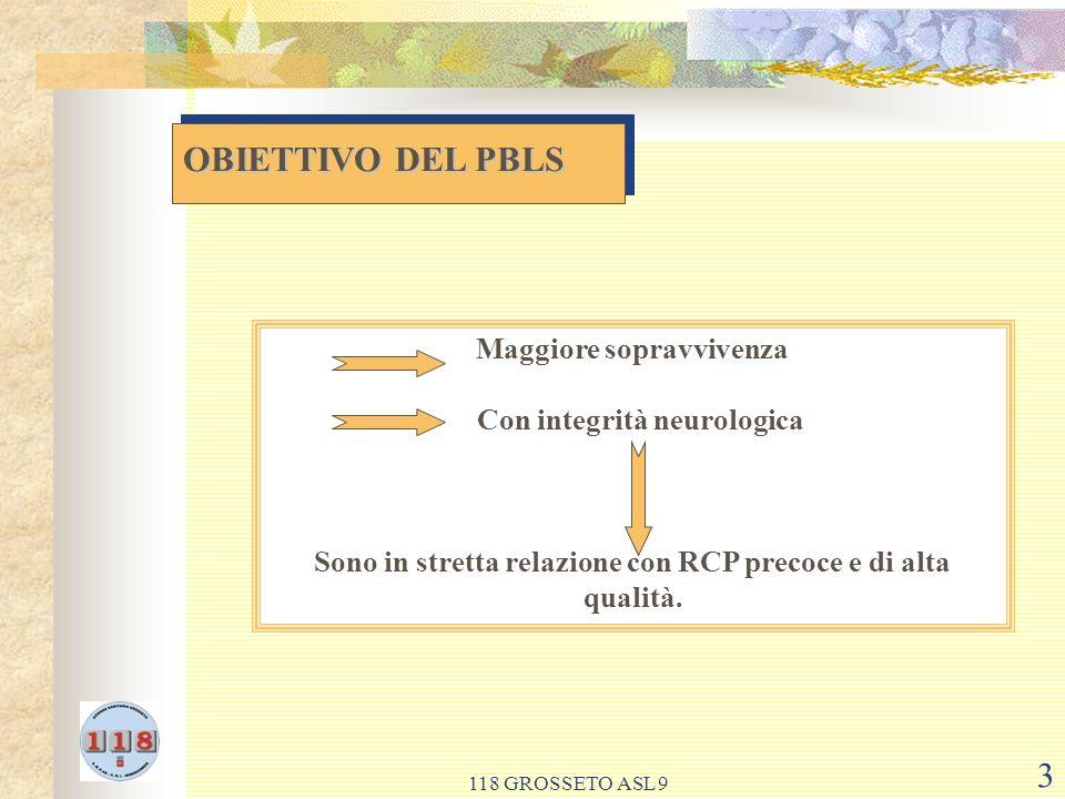 118 GROSSETO ASL 9 14 RCP PRECOCE E DI ALTA QUALITA RCP